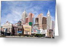 New York New York Las Vegas Greeting Card by Jane Rix