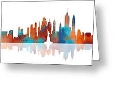 New York New York Skyline  Greeting Card