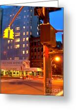 New York Night Greeting Card