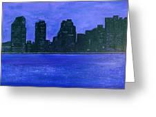 New York Night Greeting Card