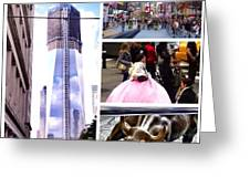 New York Nyc Collage Greeting Card