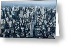 New York Panoramic View From Empire Greeting Card