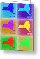 New York Pop Art  Map 3 Greeting Card