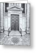 New York Public Library Entrance II Greeting Card