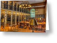New York Public Library Genealogy Room I Greeting Card