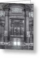 New York Public Library Main Reading Room Entrance II Greeting Card