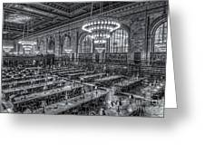 New York Public Library Main Reading Room X Greeting Card
