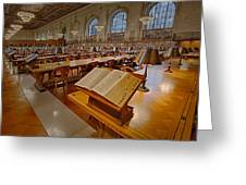 New York Public Library Rose Main Reading Room  Greeting Card