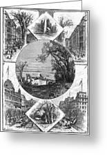 New York Saratoga, 1874 Greeting Card