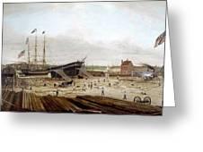 New York Shipyard, 1833 Greeting Card