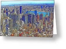 New York Skyline 20130430v3 Greeting Card