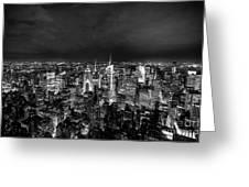 New York Skyline 3bw Greeting Card