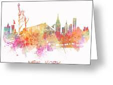 New York Skyline City Greeting Card