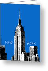 New York Skyline Empire State Building - Blue Greeting Card