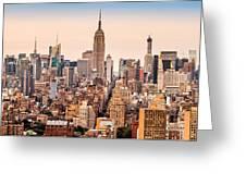 New York Skyline Panorama Greeting Card