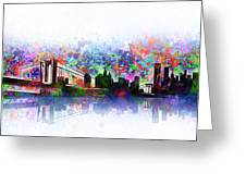 New York Skyline Splats 2 Greeting Card