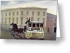 New York Stagecoach Greeting Card
