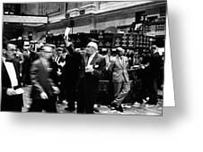 New York Stock Exchange 1963 Greeting Card