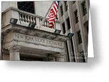 New York Stock Exchange Building Greeting Card