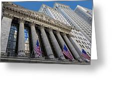 New York Stock Exchange Wall Street Nyse  Greeting Card