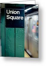 New York Subway Greeting Card