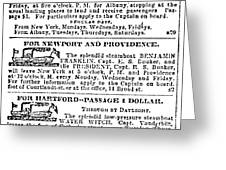 New York Sun, 1833 Greeting Card