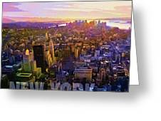 New York Sunset Greeting Card