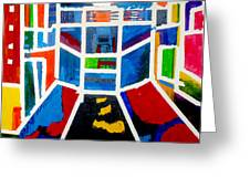 New York Times Square  By Janelle Dey Greeting Card