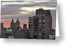 New York Twin Peaks West Side Greeting Card