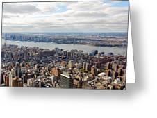 New York View Towards Jersey Greeting Card