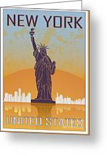New York Vintage Poster Greeting Card