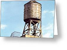 New York Water Tower 1 - New York Scenes  Greeting Card