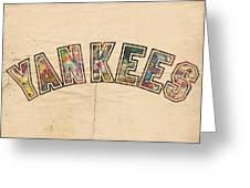 New York Yankees Poster Art Greeting Card