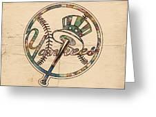 New York Yankees Poster Vintage Greeting Card