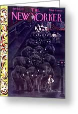 New Yorker April 10 1937 Greeting Card