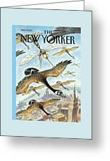 New Yorker April 17th, 2000 Greeting Card by Peter de Seve