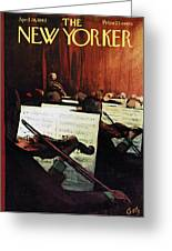 New Yorker April 28th, 1962 Greeting Card