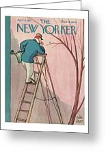 New Yorker April 9th, 1927 Greeting Card