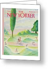 New Yorker August 11th, 1986 Greeting Card