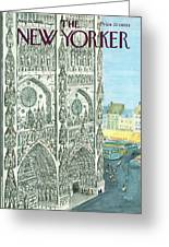 New Yorker August 13th, 1966 Greeting Card