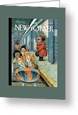 New Yorker December 11th, 2006 Greeting Card by Peter de Seve
