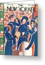 New Yorker December 14th, 1929 Greeting Card