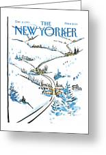 New Yorker December 8th, 1986 Greeting Card