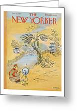 New Yorker January 12th, 1957 Greeting Card