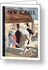 New Yorker January 14th, 1933 Greeting Card