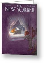 New Yorker January 19th, 1957 Greeting Card