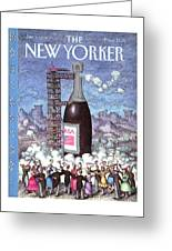 New Yorker January 1st, 1990 Greeting Card