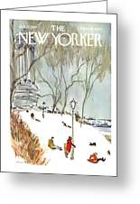 New Yorker January 27th, 1968 Greeting Card