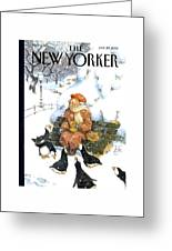 New Yorker January 29th, 2001 Greeting Card by Peter de Seve