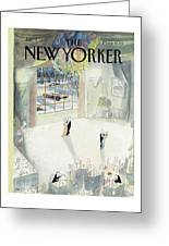 New Yorker January 5th, 1987 Greeting Card